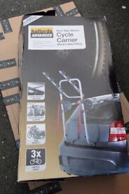 Cycle Carrier. Halfords ADVANCED. Rear High Mount. Metal Clamp fitting. 3 bike capacity. Boxed.