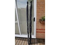 Pair of Carp Rods 12' 2.5lb test curve (new/unused) with indicators and landing net handle