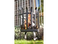 La Hacienda QUEBEC Firebasket pit Patio Heater Garden wood burner 34cm diameter 54cm H BARGAIN GIFT