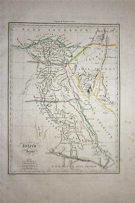 1833 Genuine Antique map Ancient Egypt. Malte-Brun