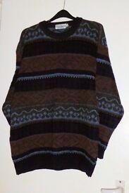 Man's, Mens' Sweater / Jumper, size Medium, Man Made Fibre, Made in UK, Histon
