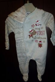 My first Christmas - onesie with a hat