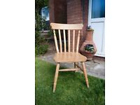 Solid pine wooden farmhouse chair for shabby chic or upcycle project
