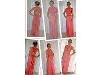 CHIFFON MULTIWAY DRESSES VARIOUS COLOURS!