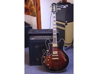 Left Handed 1998 Epiphone Sheraton II Electric Semi Acoustic Guitar Korean-made by Gibson