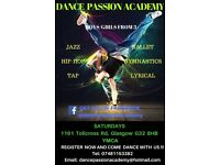 DANCE PASSION ACADEMY .......LOOKING FOR BOYS/GIRLS 3+ EAST END GLASGOW