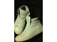 Apple of eden hi top white trainers size 6(euro 39)