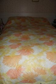 1960'S PRETTY DOUBLE BEDCOVER