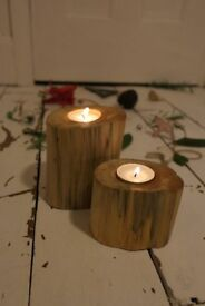 Branch Tea Light Holder x2,Hyggee,Xmas,Warm,Hand Crafted