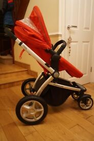 Mothercare MY4 Pushchair - Red/Black