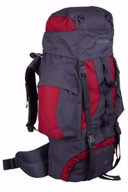 Mountain Warehouse 65l Rucksack Backpack - used once for one trip