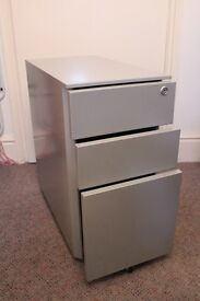 Metal drawer unit office or bedroom storage on wheels / castors