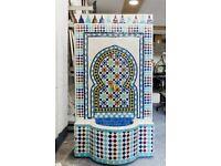 Multicoloured Outdoor Fountain, Moroccan Garden Mosaic Fountains 140 H 80cm L