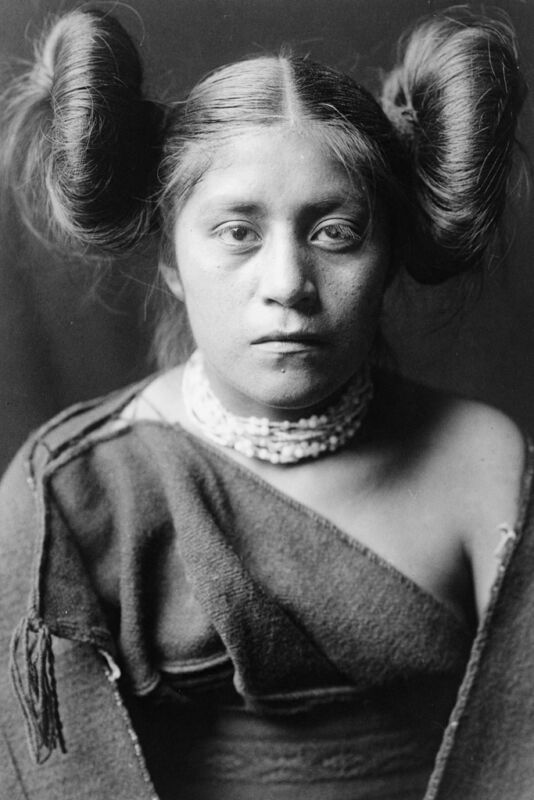 New 5x7 Native American Photo: Tewa North American Indian Girl - c. 1906