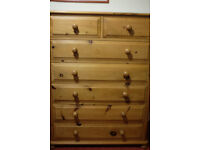 Wooden Chest of Drawers (Pine)