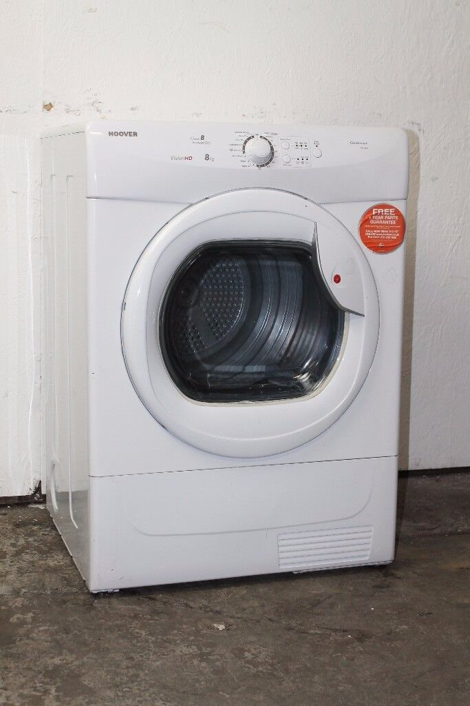 Hoover 8kg Condenser Sensor Dryer Excellent Condition 6 Month Warranty Delivery Available