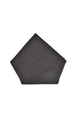 Armani Collezioni Mens Striped Pocket Square Modern Black Size OS