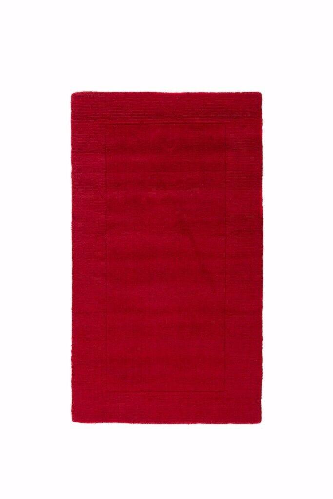 Beautiful Red 100% Wool Red runner , NR6 6GB