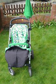 Mamas & Papas Sola pushchair / pram + Aton car seat and accessories