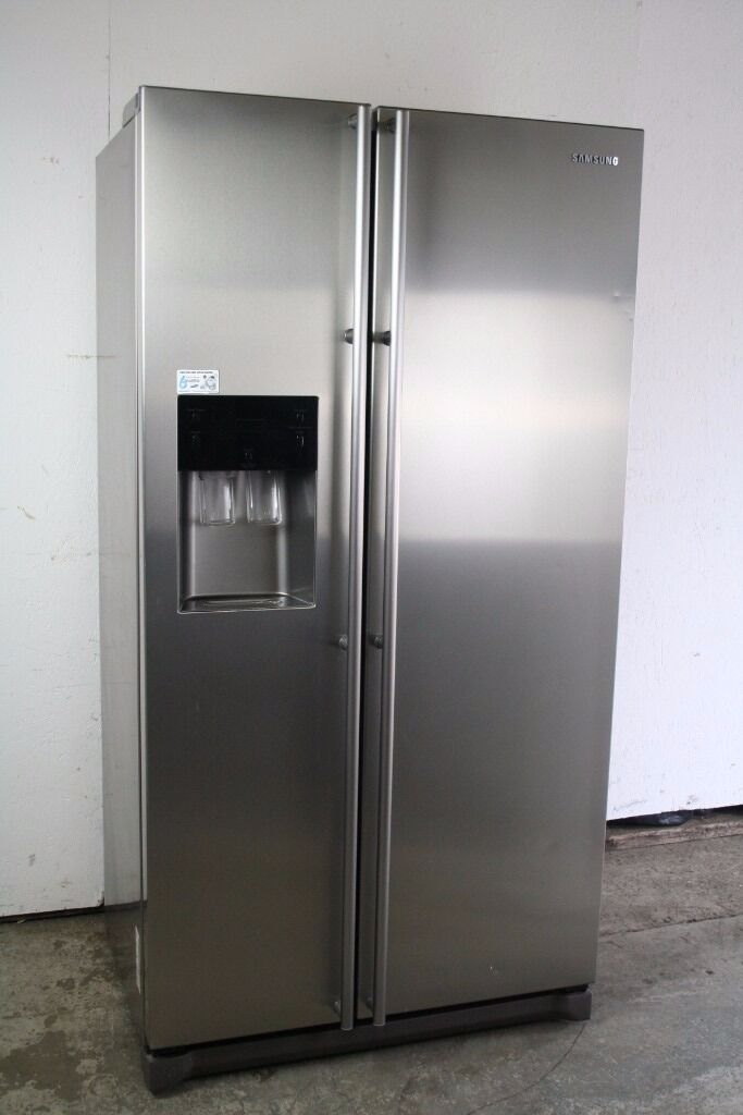 American Fridge With Ice Dispenser Part - 27: Samsung American Style Fridge Freezer Water+Ice Dispenser Digital Display  Excellent Condition