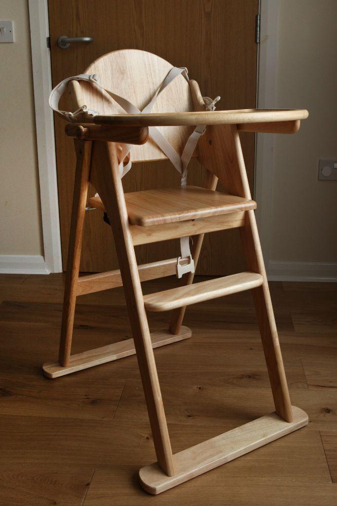 Genial East Coast Folding Wooden High Chair