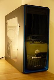 COOLER MASTER Elite 310 - Mid Tower Computer Case - with side window and DVD Writer.