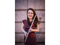 Experienced Flute Teacher, based in Edinburgh (and Glasgow).