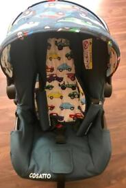 Cossatto car seat with Isofix base
