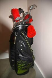 Callaway X Series golf bag and clubs