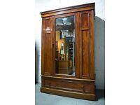 Victorian mahogany wardrobe (DELIVERY AVAILABLE)