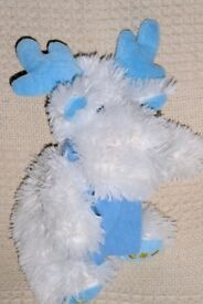 White and Blue Soft Squeaky Dog Toy, Histon