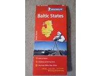 Map of the Baltic States by Michelin