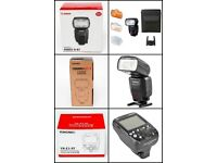 1x Canon 600EX II-RT, 1x YONGNUO YN600EX-RT II & 1x YONGNUO YN-E3-RT Wireless Speedlite Transmitter