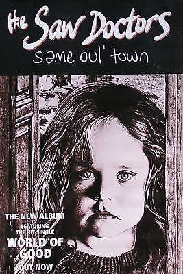The Saw Doctors 1996 Same Oul' Town Orignal Promo Poster