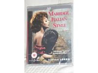 BRAND NEW Cult Films BLU - RAY DISC Sophia Loren - Marriage Italian Style Film, Histon