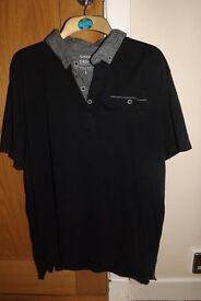 Men's Polo Shirt Black Size L