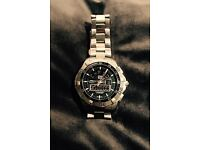 TAG Heuer Men's Aquaracer Chronotimer Analog-Digital Watch. Excellent condition.