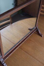 Oak Dresser Mirror - Excellent Condition