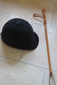 Traditional Riding Hat and Riding Crop/Whip