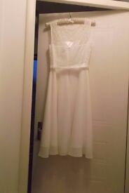 BHS size 10 wedding dress, size 14 depending on shape