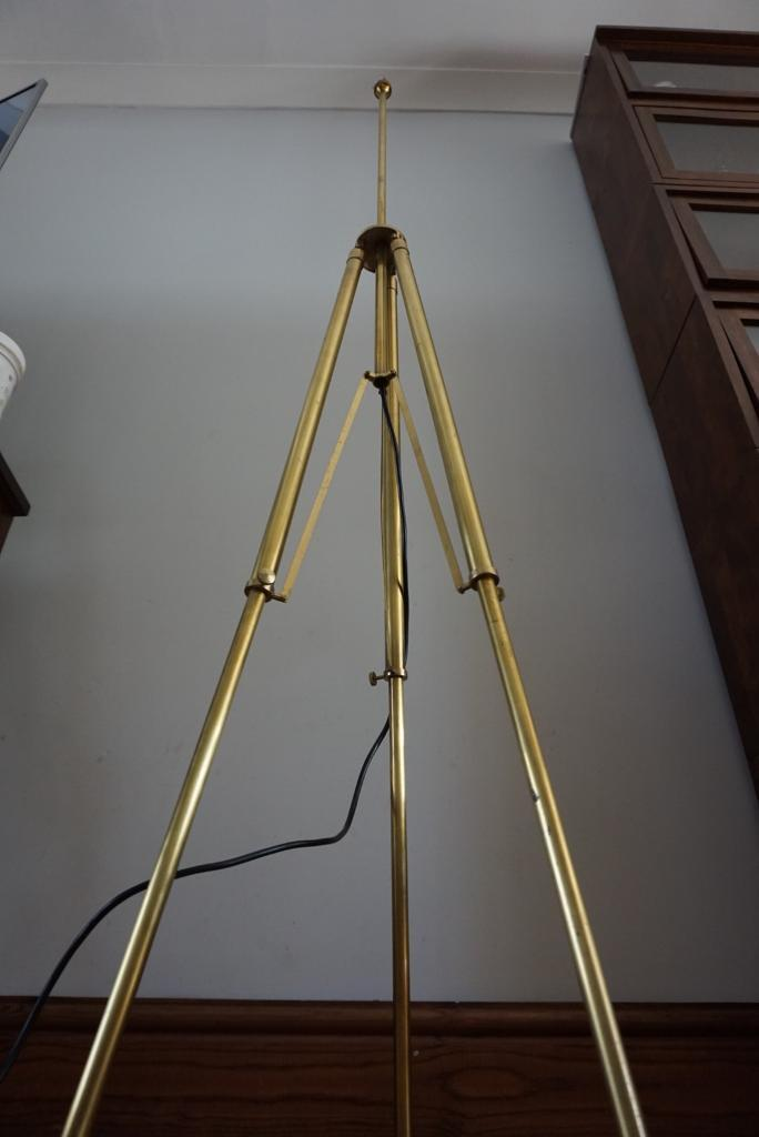Oka tripod brass floor lamp fully adjustable
