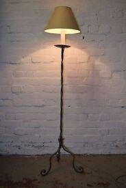 Wrought Iron Floor Lamp (DELIVERY AVAILABLE)