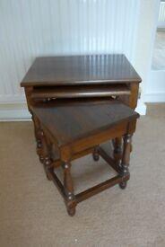 Dark Oak Nest of 3 tables