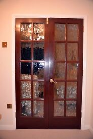 Internal double doors with glass panels