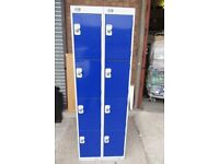 Biocote 8 door locker with padlock lock fasten ideal for gym/youth club/football teams/staff rooms