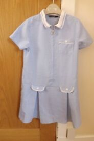 Girls Gingham School Dress Age 5-6