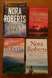 4 Nora Roberts books