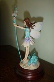 Flower Fairy ornament lavender border fine arts