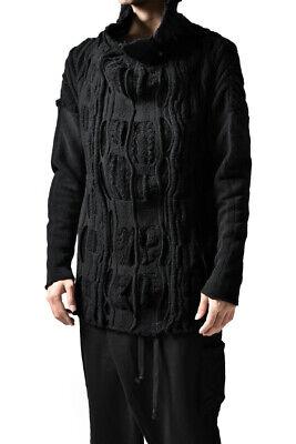 Individual Sentiments | Black Wool Knit Turtleneck | 17AW Poell Diem Guidi