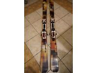 Scott Mission 178cm skis with Marker F12 Touring bindings and crampons
